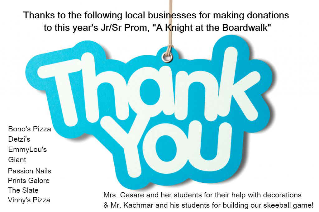 Thank you to the Following businesses.